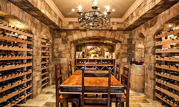 48 Musthave Luxuryhome Amenities Wine Room © Fourteen Estates New Basement Wine Cellar Ideas Collection