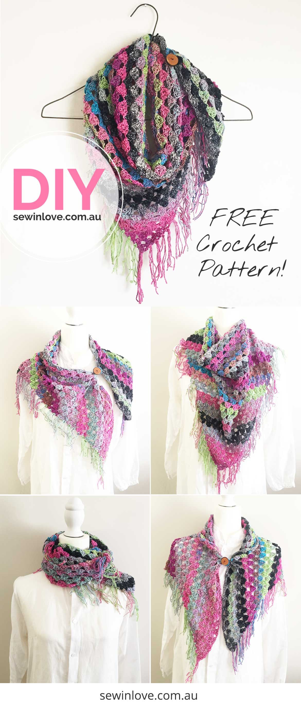 How to Crochet a Noro Scarf: Free + Easy Pattern with Video | Cómo ...