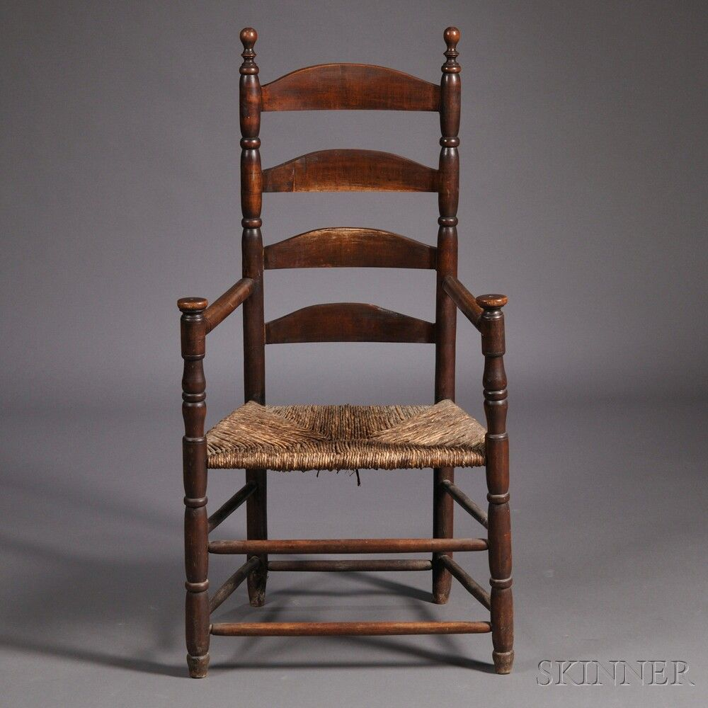 18th C Ladderback Armchair Skinnerinc Com Armchairs For Sale