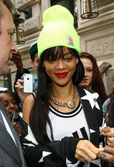 4a589e69b56f Rihanna + Carhartt beanie