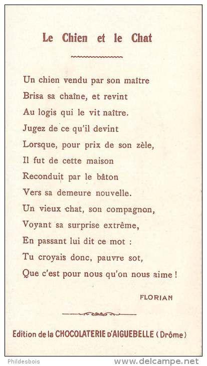 Fables De Florian Le Chien Et Le Chat Chien Chat Et Fable