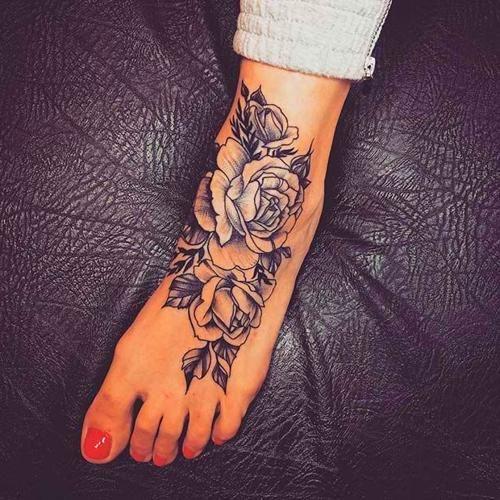 Tattoo Designs Foot Tattoos For Women Tattoos For Women Flowers Rose Tattoo Foot
