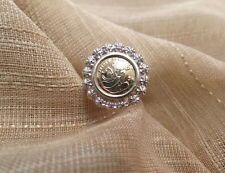 10k yellow gold panda coin copy diamond accent ring size 7.5  5715  29
