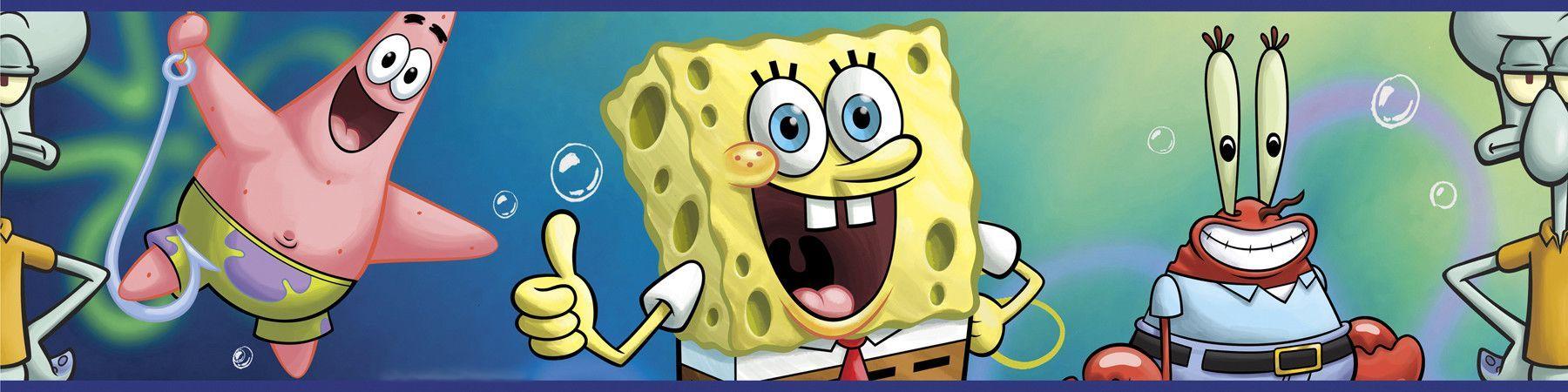 Nickelodeon Spongebob Squarepants 15 X 5 Border Wallpaper Commercial Single Outlet Receptacle Nema 6 20r 20a 250v 5823 Ebay
