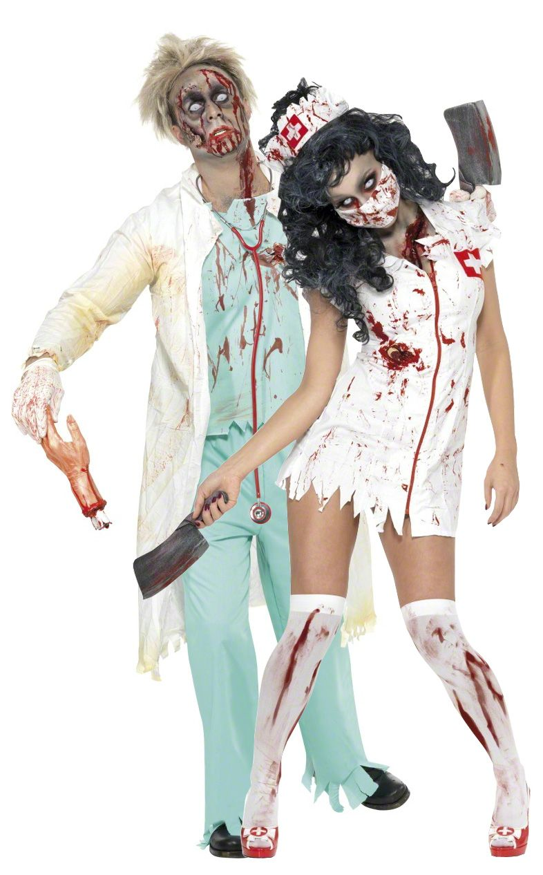 zombiekrankenschwester doktor kost m halloween f r paare halloween makeup costumes and. Black Bedroom Furniture Sets. Home Design Ideas