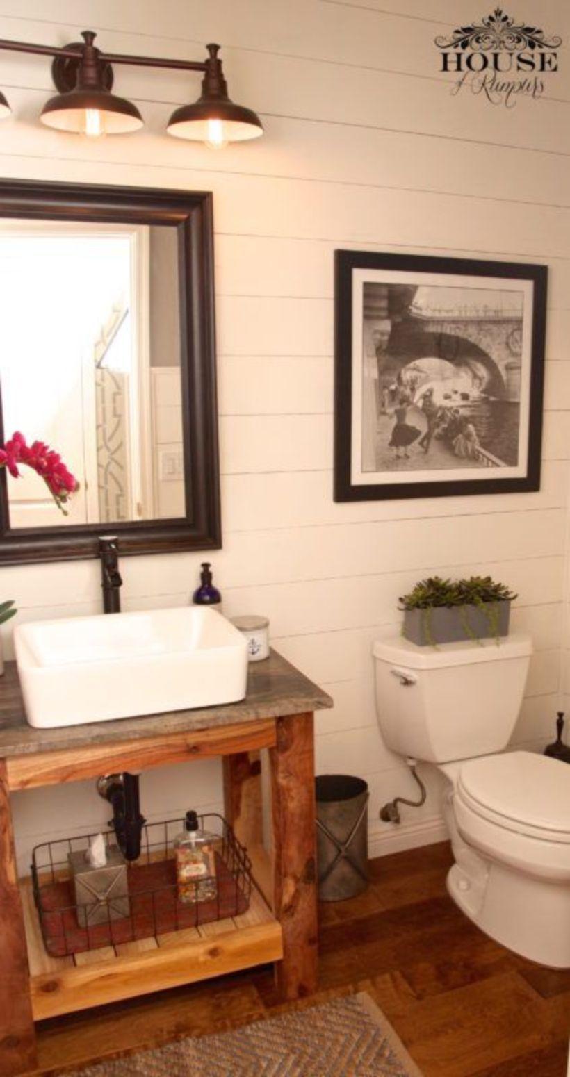 55 Farmhouse Bathroom Ideas for Small Space Rustic