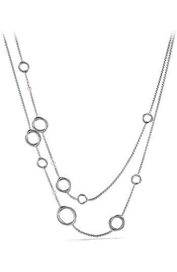 David Yurman David Yurman 'Infinity' Necklace with Pearls available at #Nordstrom