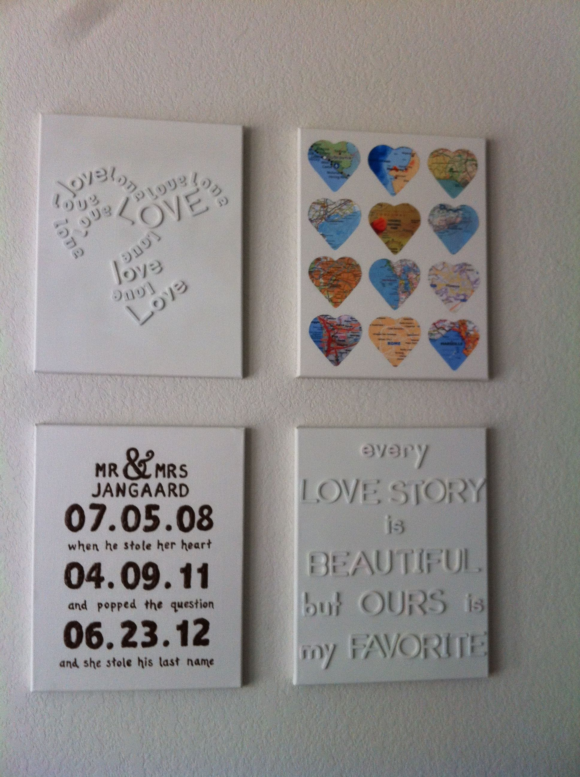 Take multiple diy canvas ideas and put them together ...