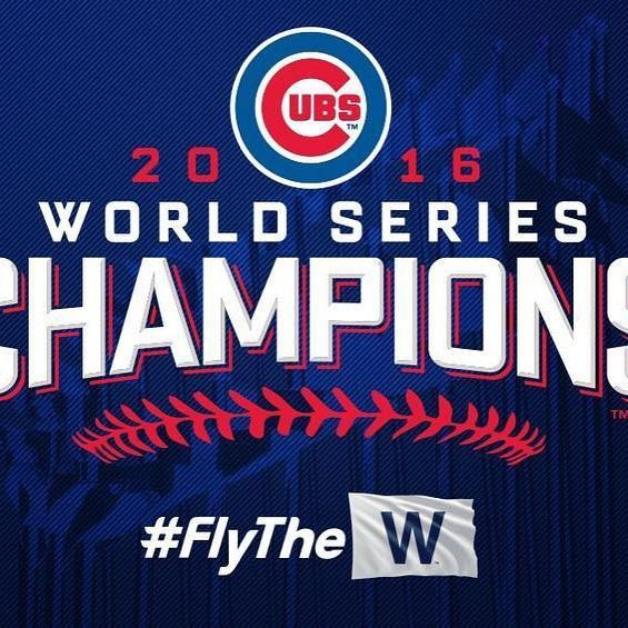 HOLY COW HOLY COW!!!!! THEY DID IT!!! The Chicago @Cubs break a 108-year curse, defeating the Cleveland @Indians 8-6 to win the World Series!!! #WorldSeries #FLYTHEW #GoCubsGo #Cubs