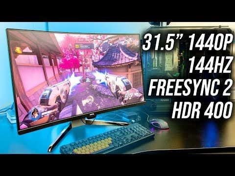 The EX3203R is a 32 inch 1440p 144Hz curved gaming monitor from BenQ