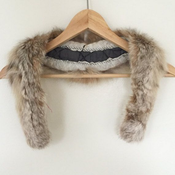 Vintage Fur Collar / Detachable Fox Fur Stole / Fur Muff / Real Fur Accessories by TARware