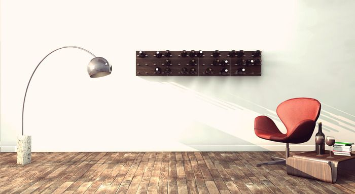 STACT Modular Wine Wall, by Eric Pfeiffer, 2012 ICFF winning designer - pre-order from $95 http://kck.st/LP6N67