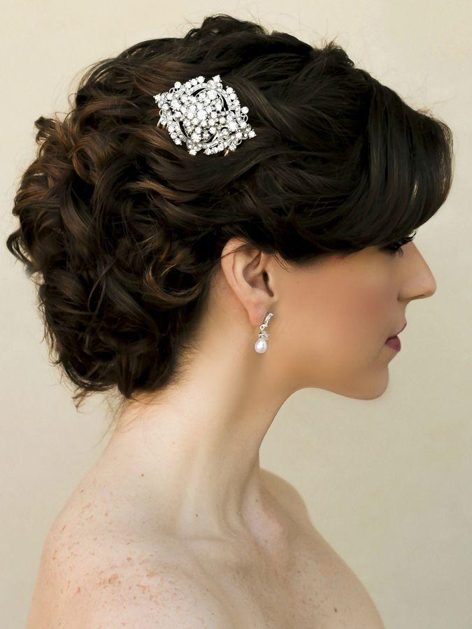 Hair Comes the Bride - Elegant Rhinestone Bridal Hair Comb ~ Falon, $38.00 (http://www.haircomesthebride.com/elegant-rhinestone-bridal-hair-comb-falon/)