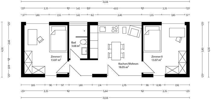 Neues wohnen im cubig designhaus minihaus h user for Modul container haus