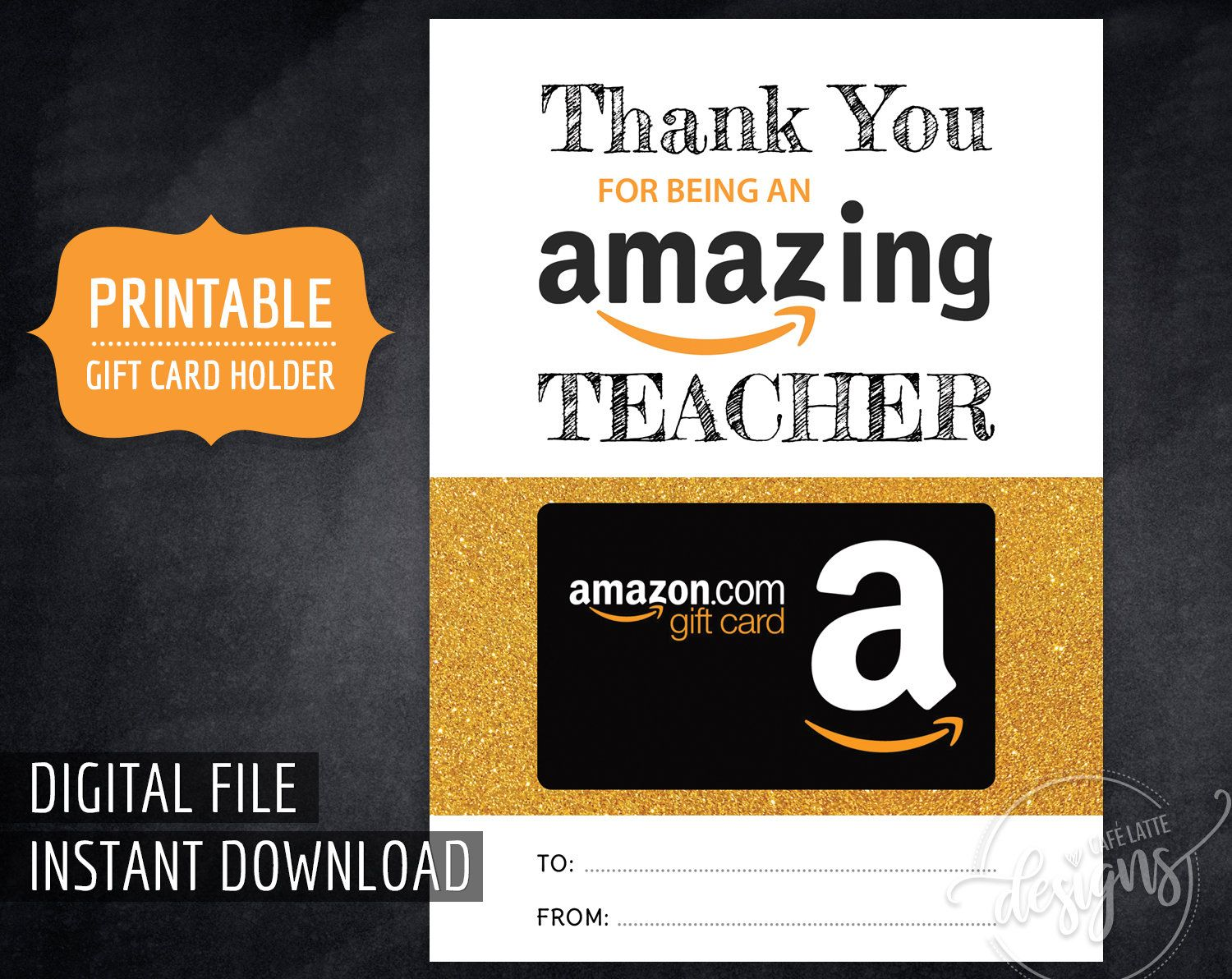 AMAZON Gift Card Holder for Teacher, Printable Thank You Amazing Teacher Digital Instant Download, End of Year Teacher Appreciation Amazon