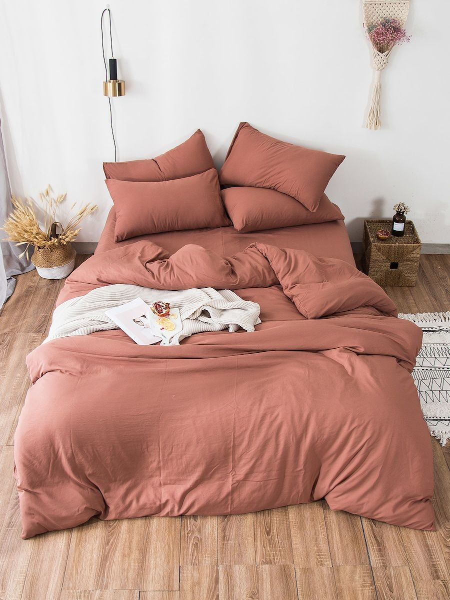 Solid Sheet Set SheIn(Sheinside) (With images) Bedding