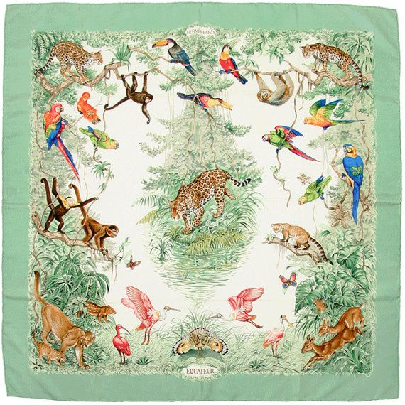 6e1b11a63465 HERMES SCARF Silk Equateur by Robert Dallet 90cm Carre by EXANYC ...