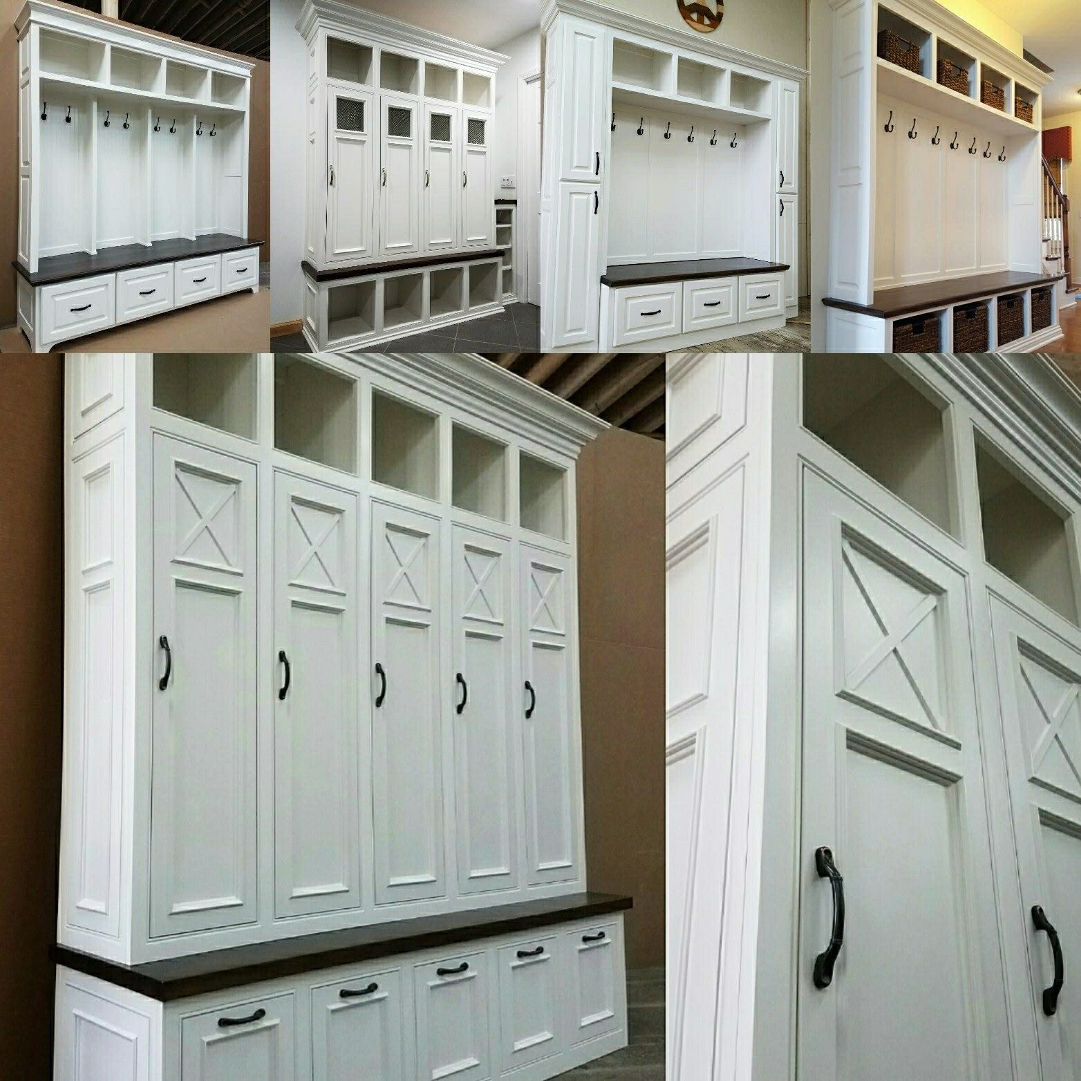 The Asheville Mudroom Lockers Storage Bench Cubbies Halltree Furniture Entryway Farmhouse Mudroom Mudroom Cabinets Custom Furniture
