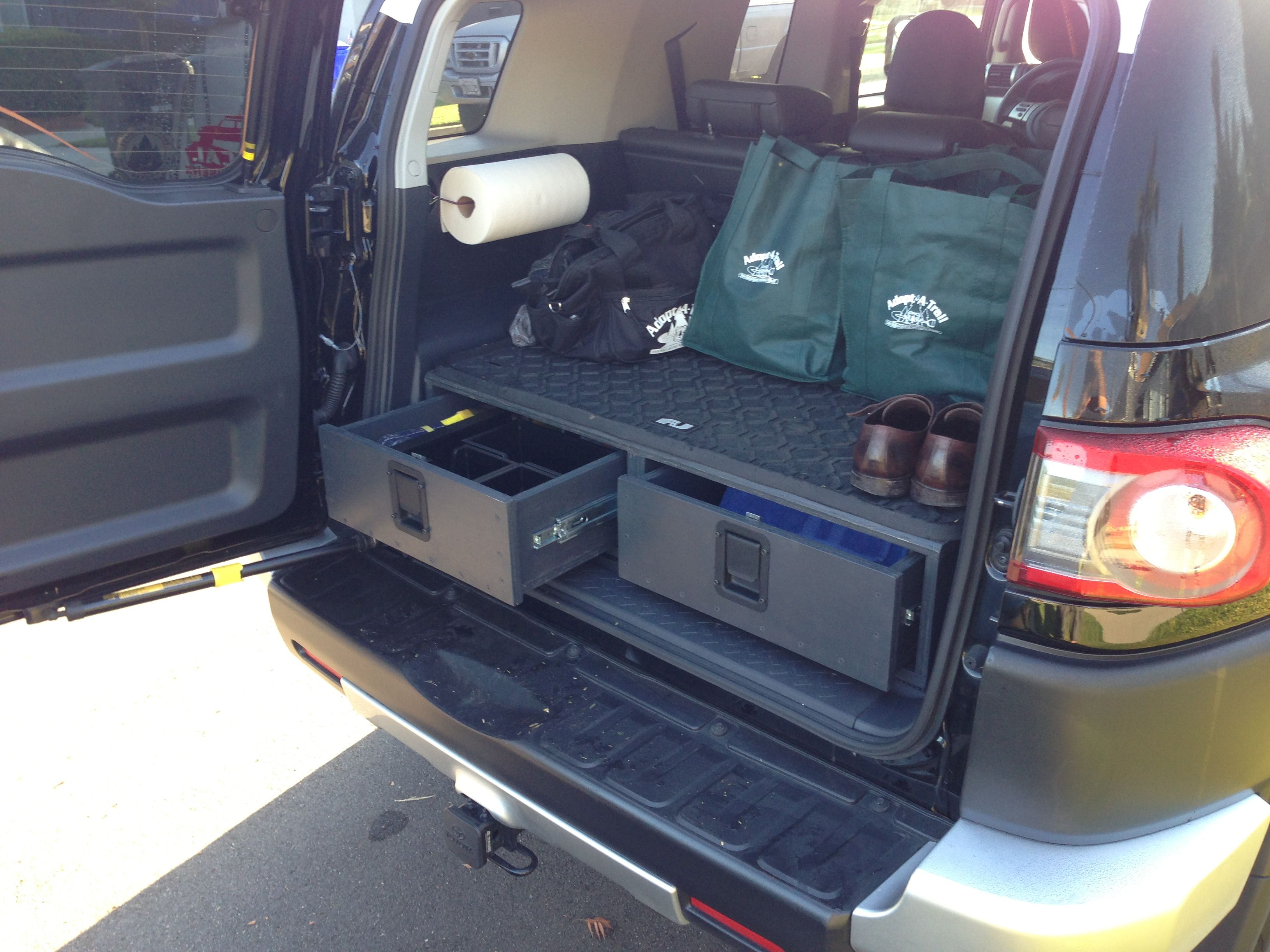 Fj cruiser storage drawers fj wants pinterest toyota and toyota fj cruiser for Toyota fj cruiser interior accessories