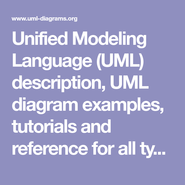 Unified Modeling Language Uml Description Uml Diagram Examples Tutorials And Reference For All Types Of Uml Diagrams Use Case Dia Pmbok Tutorial Use Case