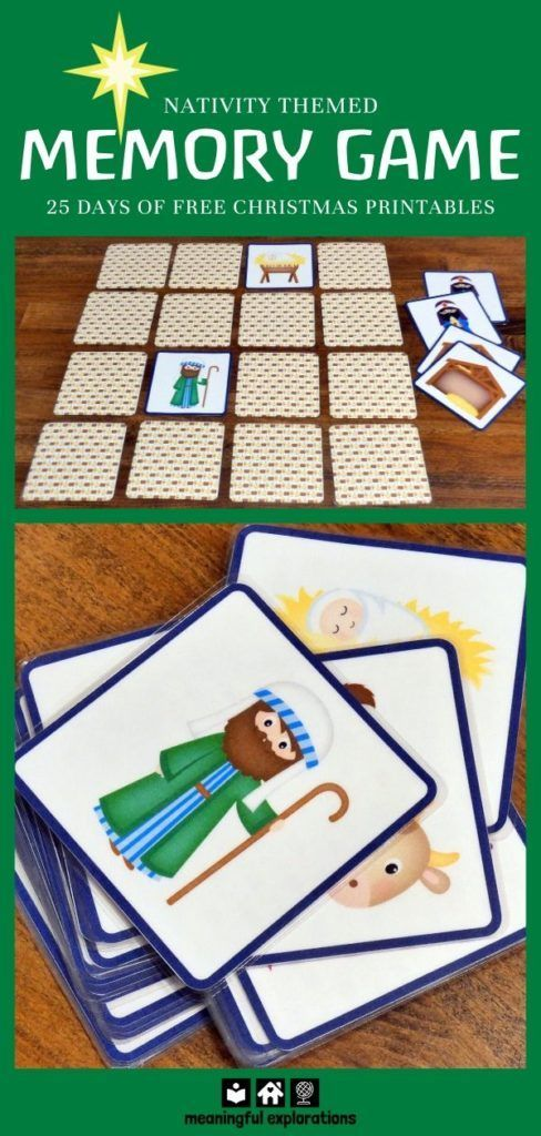 FREE Memory Game - Advent Calendar Day 6 - in 2020 ...
