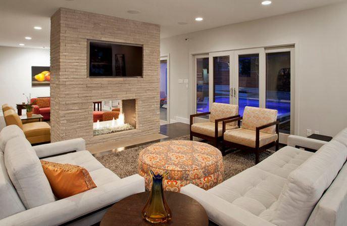Salon Design Avec Cheminee Contemporary Family Rooms Family