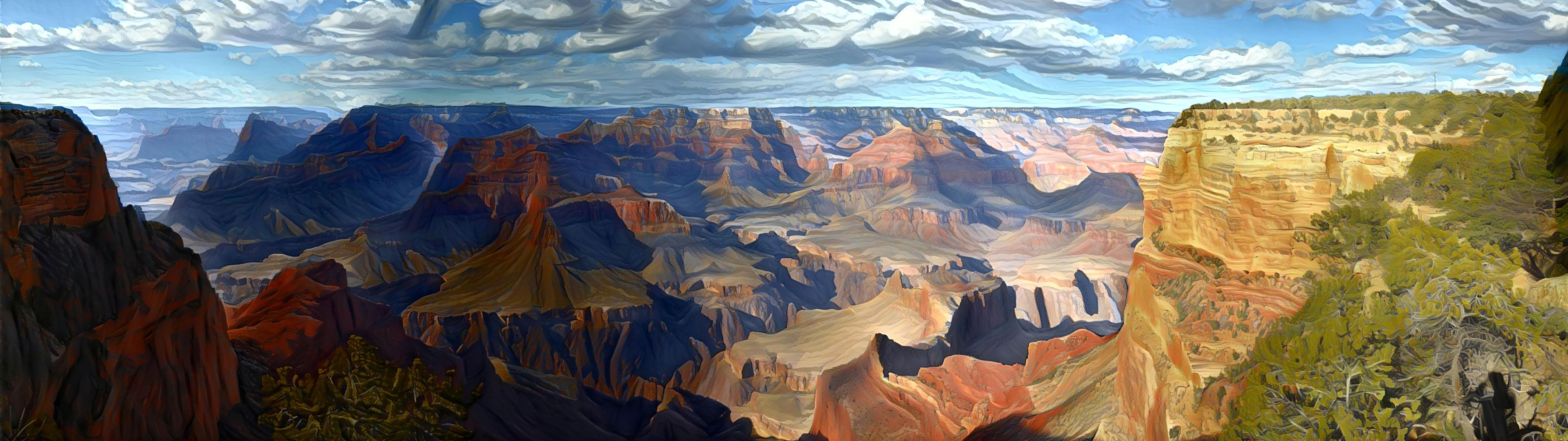 Grand Canyon Painting Wallpaper