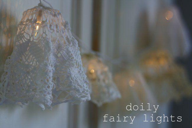 DIY Doily Fairy Lights