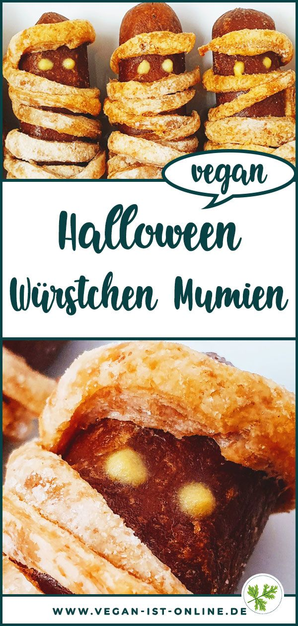 ᐅ Halloween Essen - Würstchen Mumien   schnell & einfach