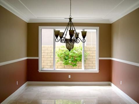 Bedroom Paint Ideas With Chair Rail use ceiling molding, chair rail, and floor molding all in