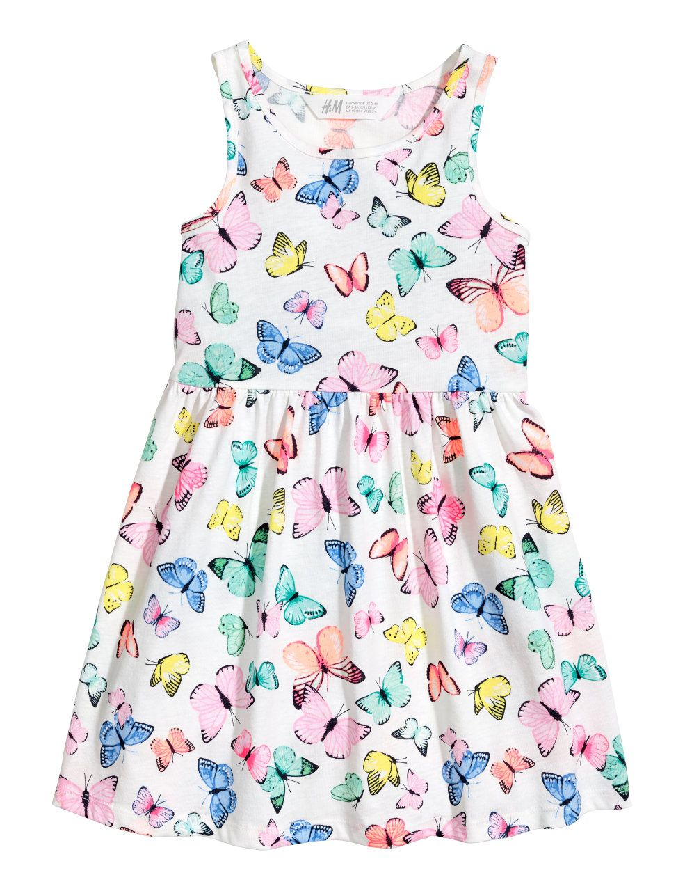 Check this out sleeveless dress in soft cotton jersey with a