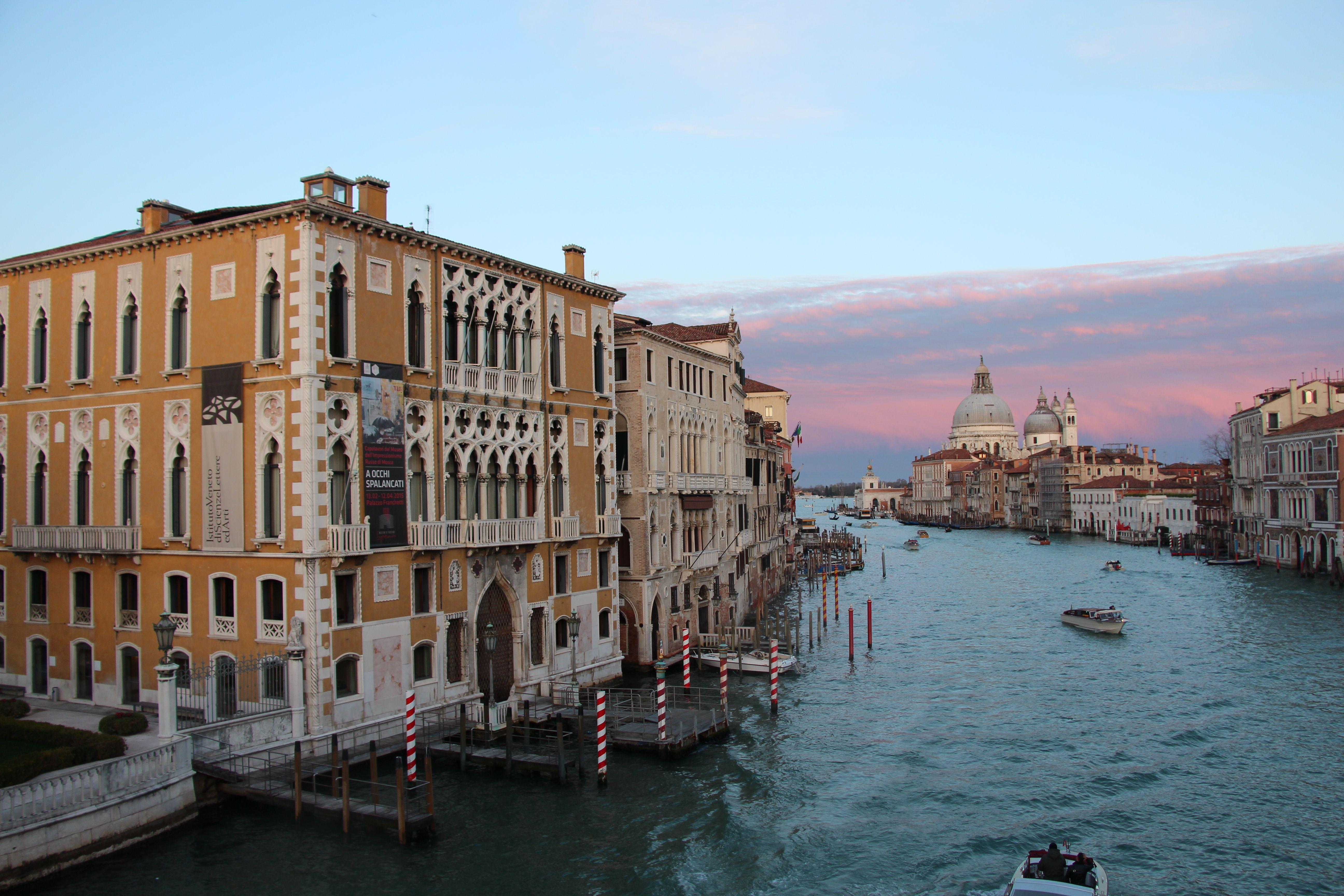 A view down the Grand Canal in Venice, Italy. #venezia #water #boats #grandcanal