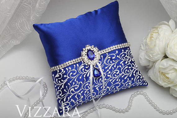 Ring Pillow Royal Blue Wedding Ring Pillow Ideas Royal Blue And