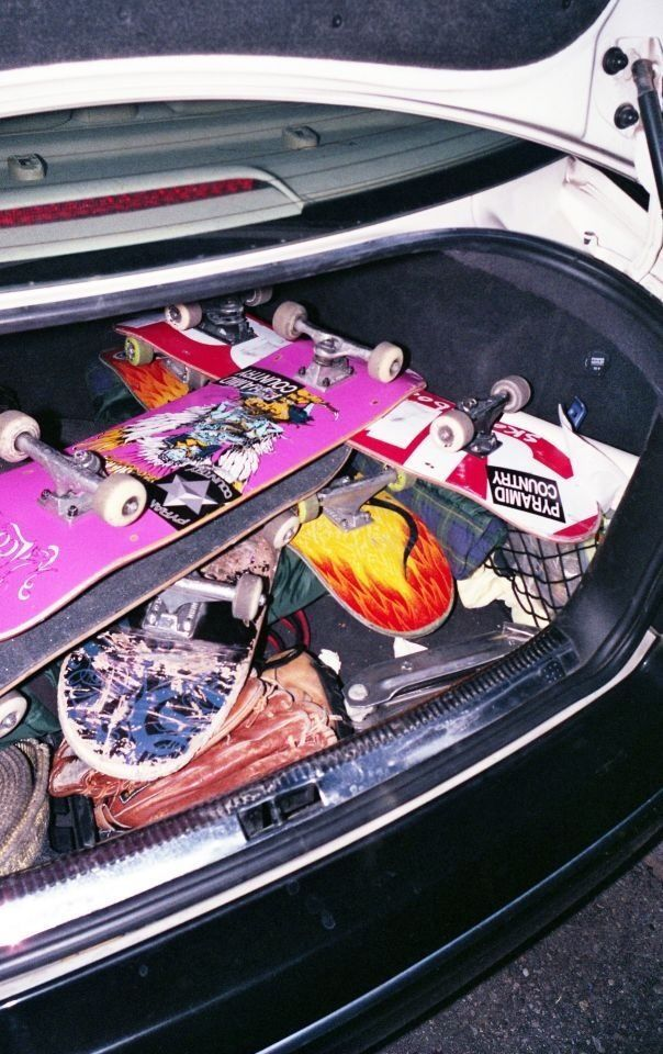 Vintage Skateboard Aesthetic Wallpaper
