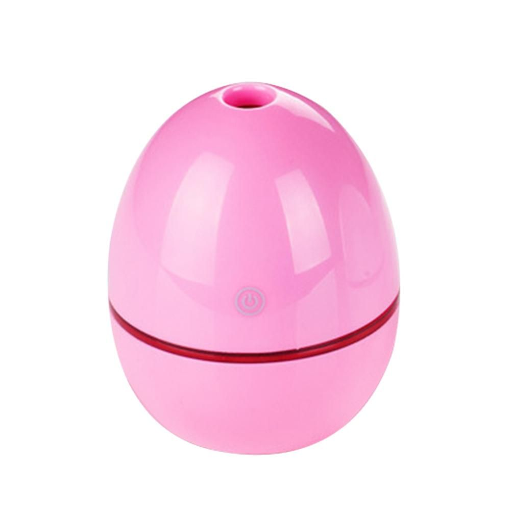 Portable Mini Home LED Night Light USB Humidifier Purifier Atomizer Air Diffuser - Pink