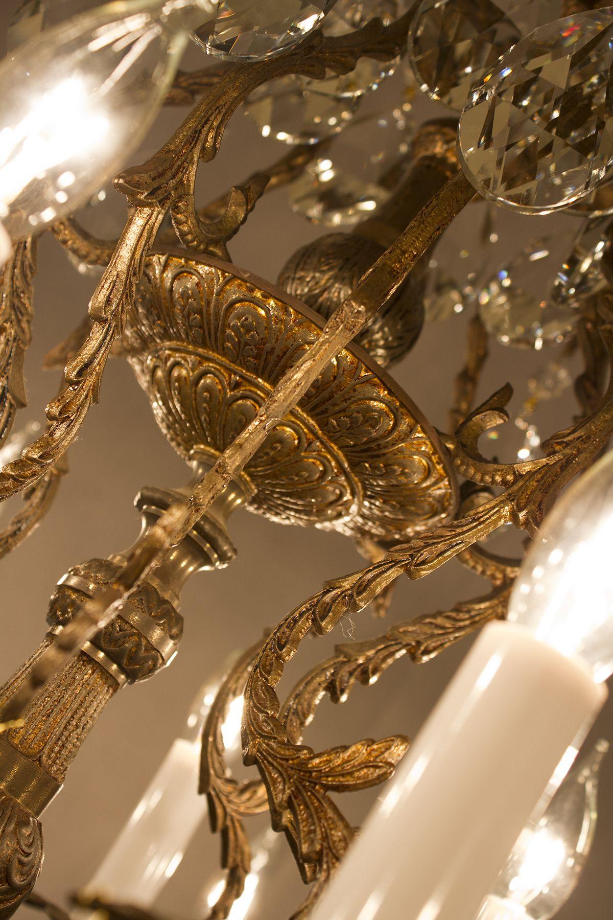 16 light vintage brass chandelier old vintage chandeliers 16 light vintage brass chandelier aloadofball Choice Image
