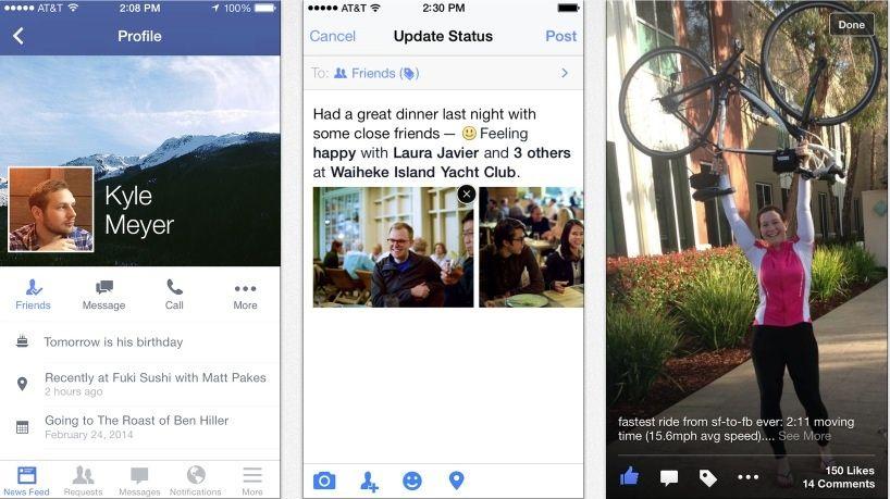 FacebookApp Version 10 für iOS und Android bringt