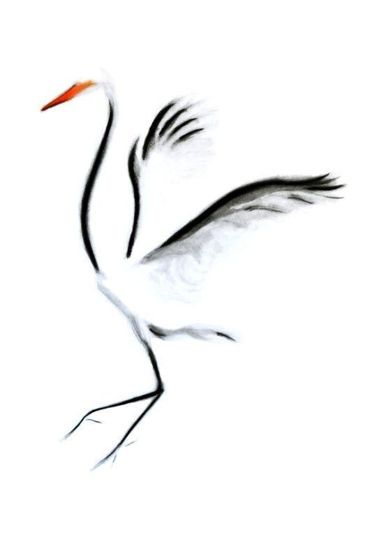 Minimalist Crane Art Print By Kellas Campbell Society6 Crane Tattoo Minimalist Drawing Art