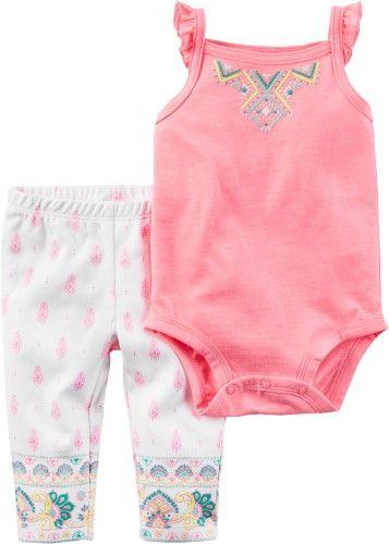 a682664c93430 Carters Baby Girls Batik Pants Set, Girl's, Size: 3 Month, Pink ...