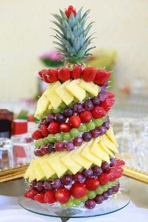 Fruit Pyramid Baby Shower Centerpiece
