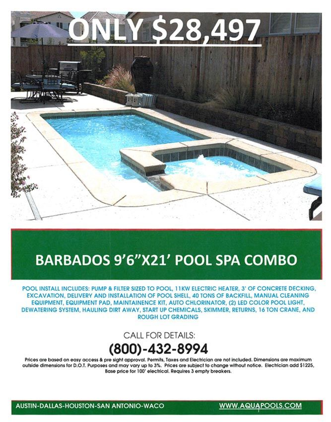The Aqua Group Fiberglass Pools & Spas | Swimming Pool Specials from ...
