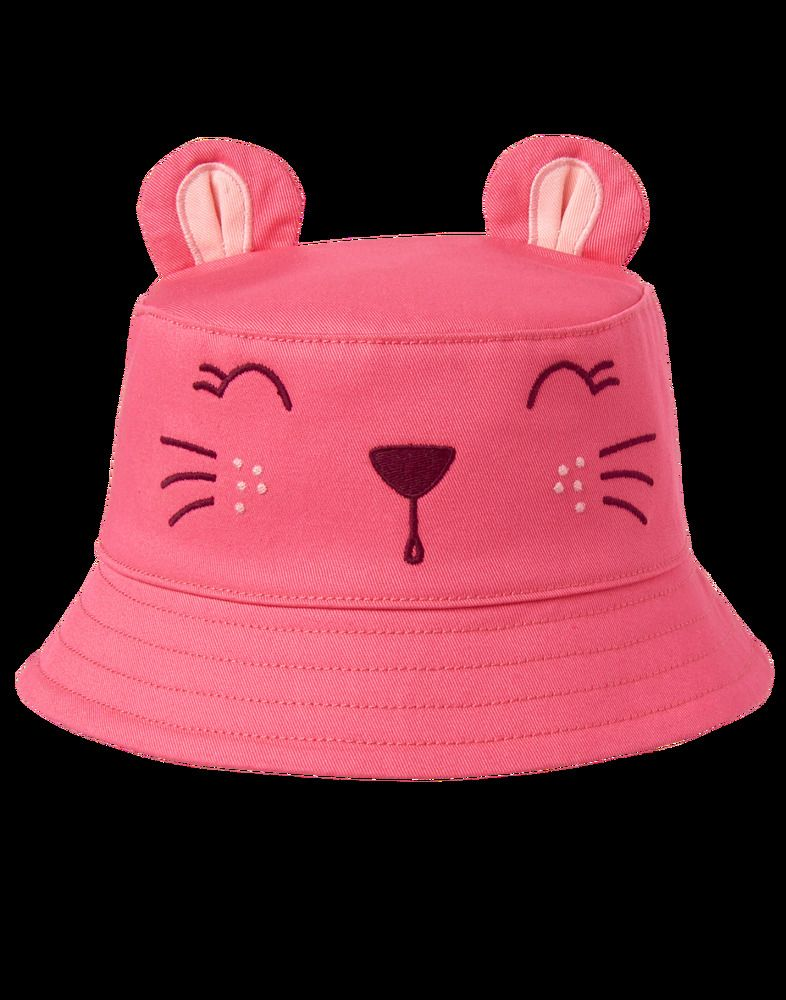 b9d163b4bac NWT Gymboree Cat Bucket Hat Girls Pink Cap Baby Child Size 12-24 Months   Gymboree  Bucket
