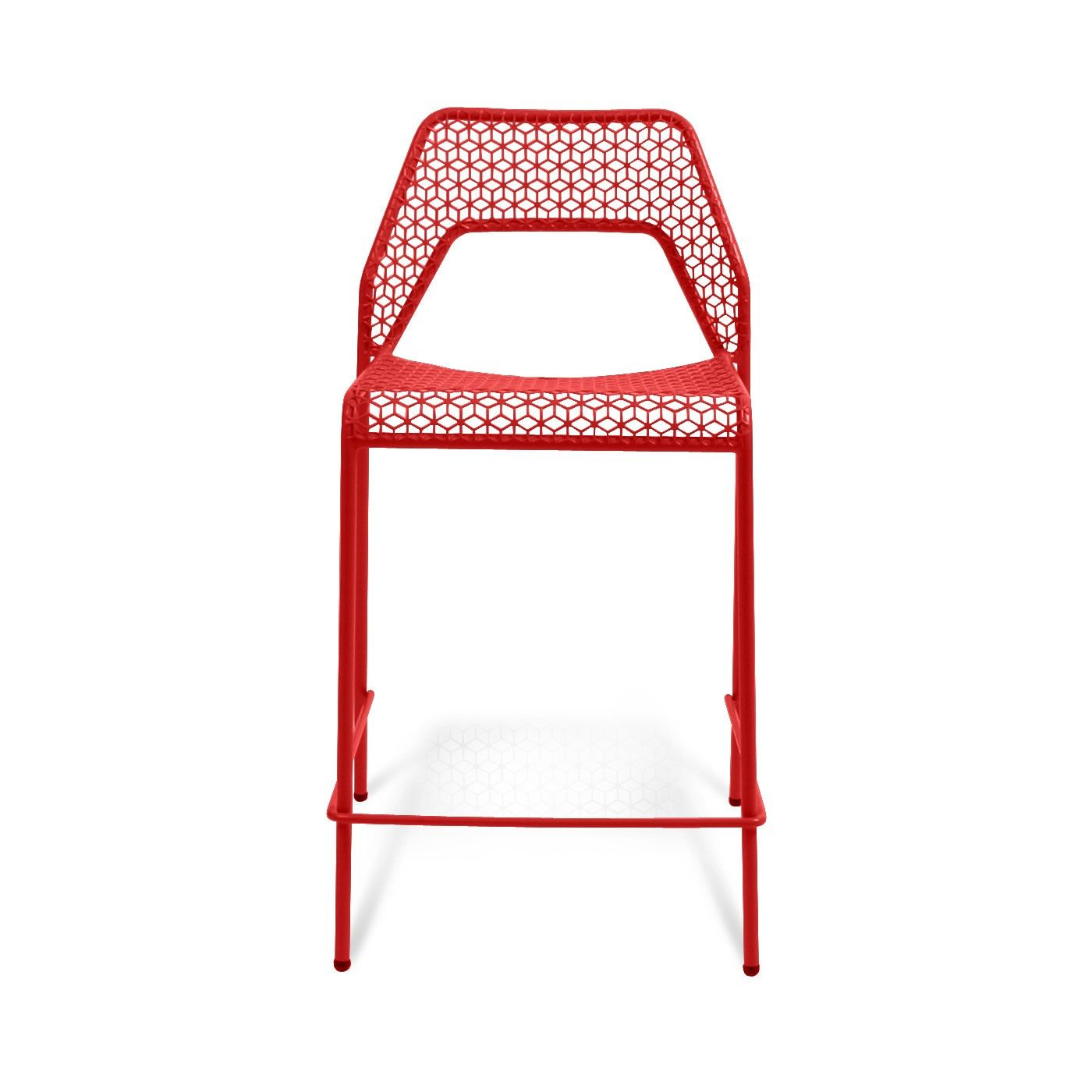 Genial Modern Humble Red Indoor/Outdoor Hot Mesh Counterstool. Comes In Off White  Too.