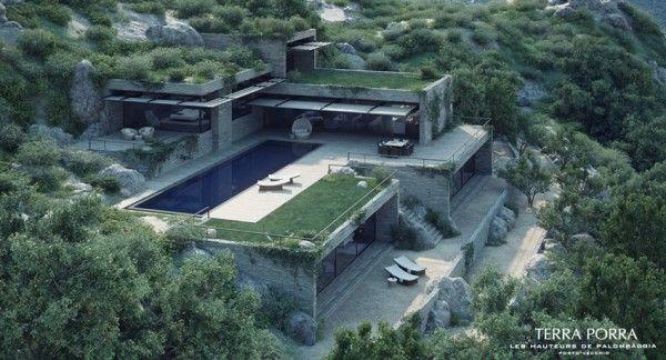 Corsican Mountain View Villas Visualized Zelenye Kryshi