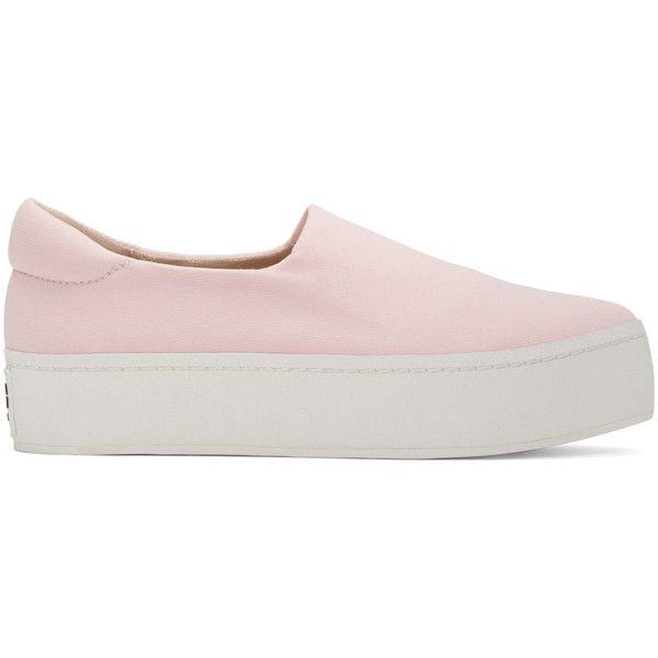 Saint Laurent SSENSE Exclusive Pink Platform Slip-On Sneakers g8DtkL