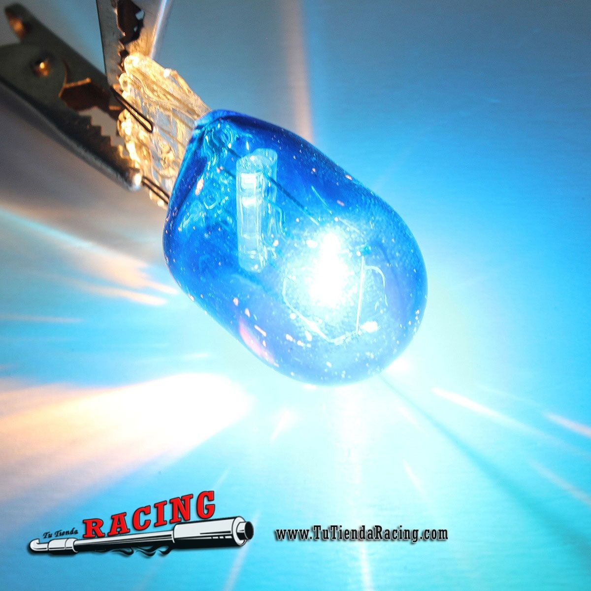 Bombilla Led W21 5w T20 580 7443 Xenon Luz Interior Antinieblas Intermitentes Coche Color Azul 2 96 Tutiendaracin Bombillas Bombillas Led Luces Interiores
