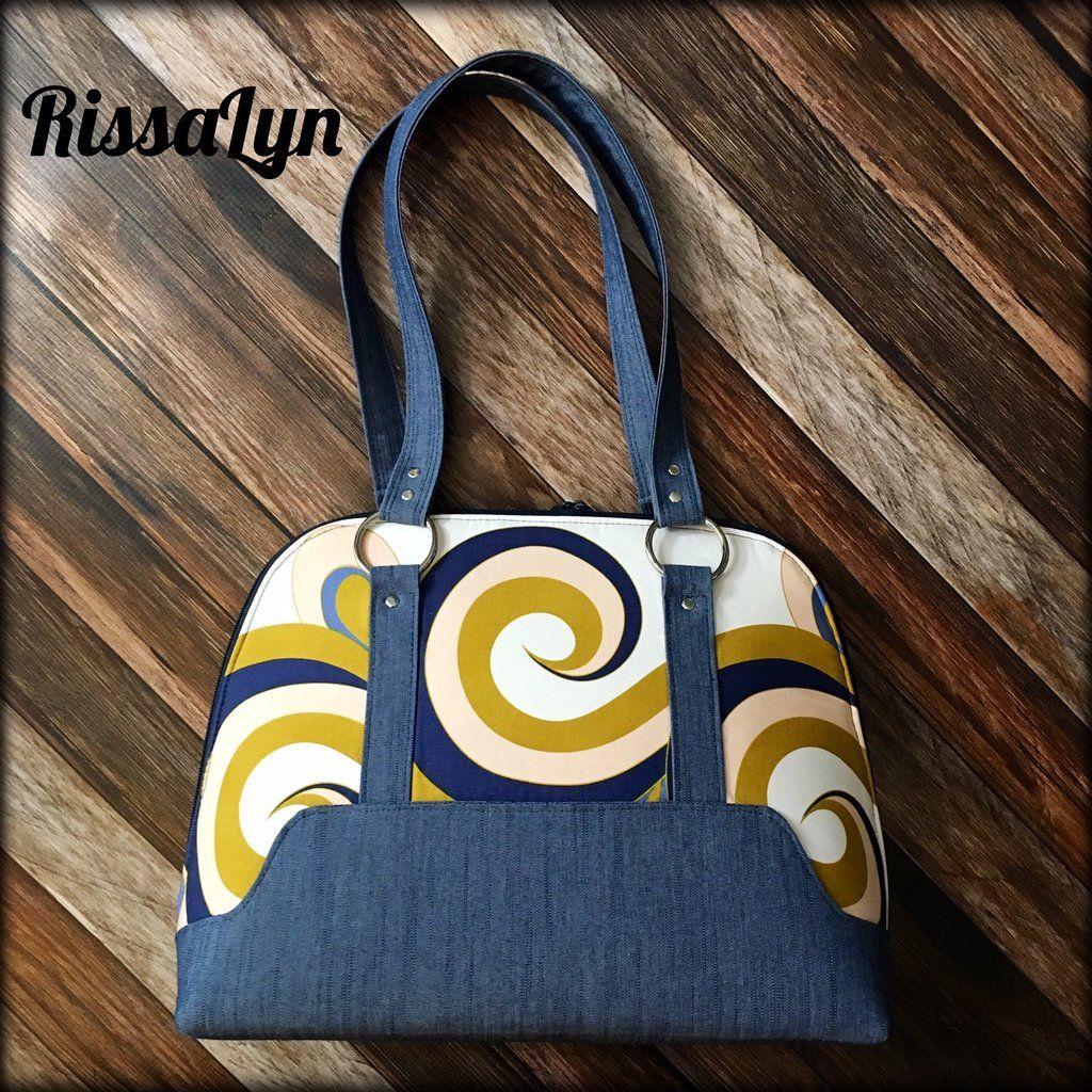 The Boronia Bowler Bag - PDF Sewing pattern   Taschen nähen, 50er ...