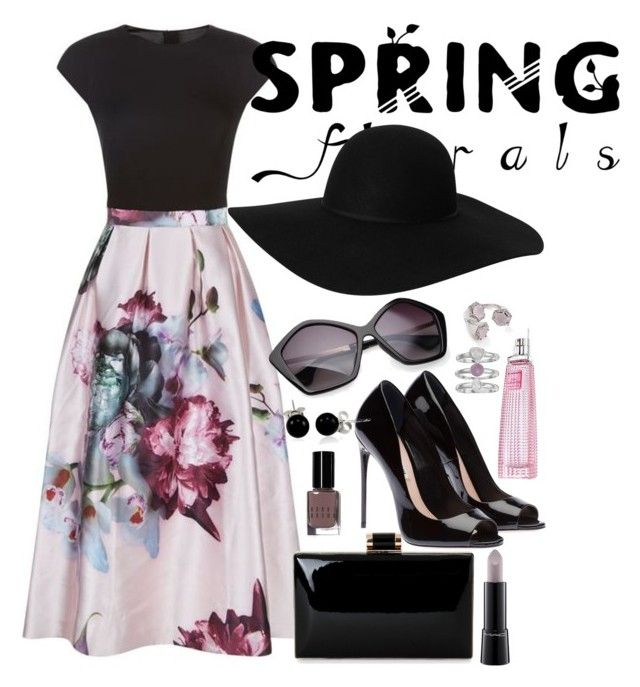"""Spring Florals"" by fashion-nova ❤ liked on Polyvore featuring Ted Baker, Bobbi Brown Cosmetics, Bling Jewelry, Jennifer Lopez, MAC Cosmetics, Givenchy, Rebecca Minkoff and Monki"
