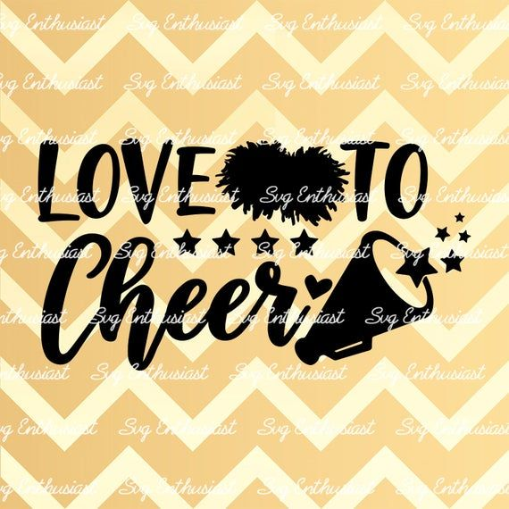 Download Love to Cheer SVG, Cheerleading SVG, Cheer Life SVG ...