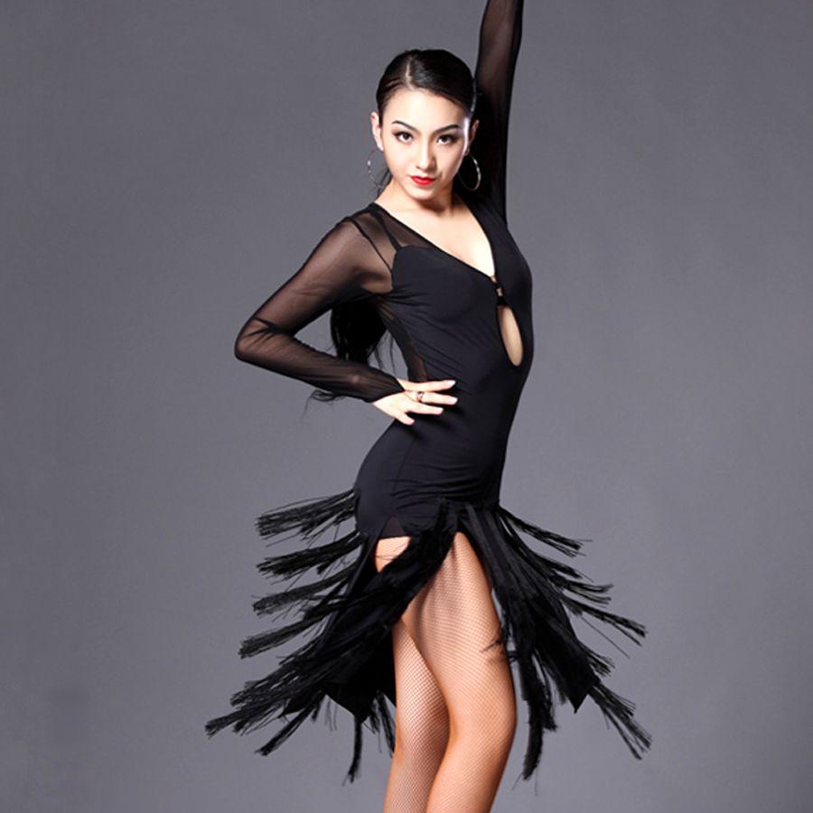 6d21e9893fc6 2015 Latin Dance Dress Women Cha Cha/Rumba/Samba/Tango/Ballroom Dance Skirt  Sexy Plus Size Club Dresses Vestido Franja DQ13013